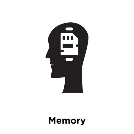 Memory icon vector isolated on white background, logo concept of Memory sign on transparent background, filled black symbol
