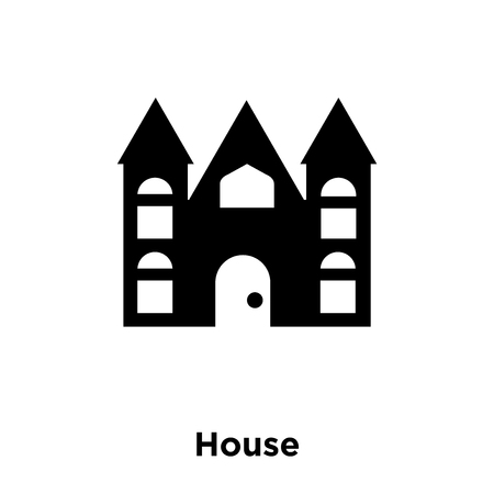 House icon vector isolated on white background, logo concept of House sign on transparent background, filled black symbol