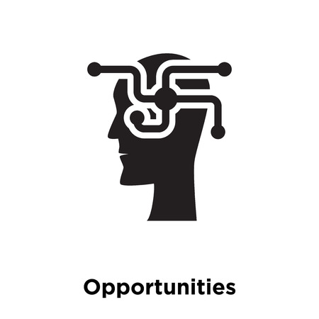 Opportunities icon vector isolated on white background, logo concept of Opportunities sign on transparent background, filled black symbol