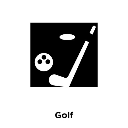 Golf icon vector isolated on white background, logo concept of Golf sign on transparent background, filled black symbol