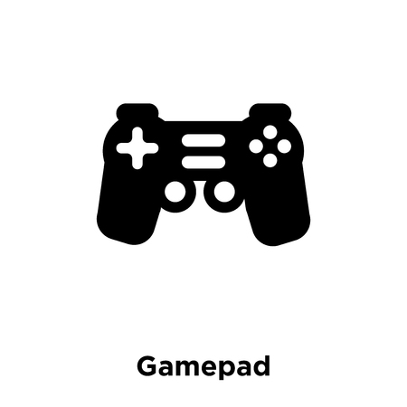 Gamepad icon vector isolated on white background, logo concept of Gamepad sign on transparent background, filled black symbol