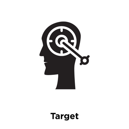 Target icon vector isolated on white background, logo concept of Target sign on transparent background, filled black symbol