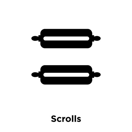 Scrolls icon vector isolated on white background, logo concept of Scrolls sign on transparent background, filled black symbol