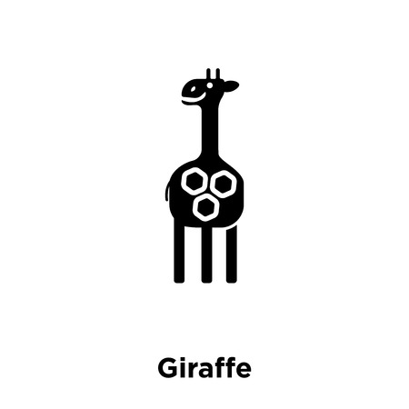 Giraffe icon vector isolated on white background, logo concept of Giraffe sign on transparent background, filled black symbol