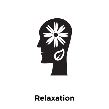 Relaxation icon vector isolated on white background, logo concept of Relaxation sign on transparent background, filled black symbol Illustration