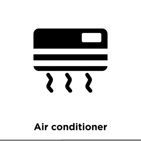 Air conditioner icon vector isolated on white background, logo concept of Air conditioner sign on transparent background, filled black symbol Illustration
