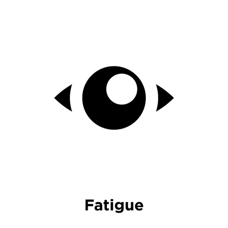 Fatigue icon vector isolated on white background, logo concept of Fatigue sign on transparent background, filled black symbol Çizim