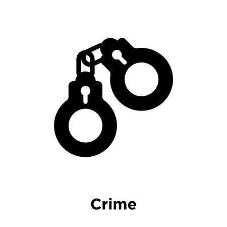 Crime icon vector isolated on white background, logo concept of Crime sign on transparent background, filled black symbol
