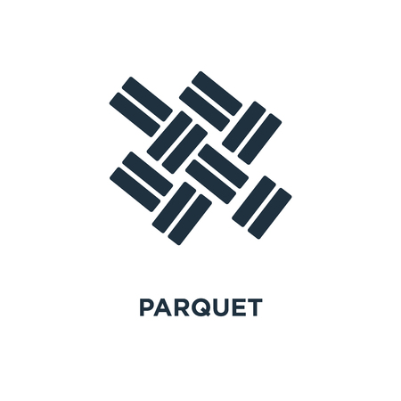 Parquet icon. Black filled vector illustration. Parquet symbol on white background. Can be used in web and mobile. Vektorové ilustrace