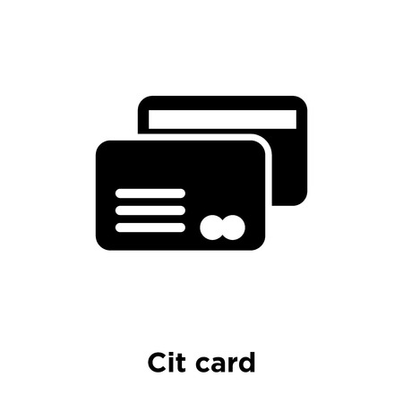 Credit card icon vector isolated on white background, logo concept of Credit card sign on transparent background, filled black symbol