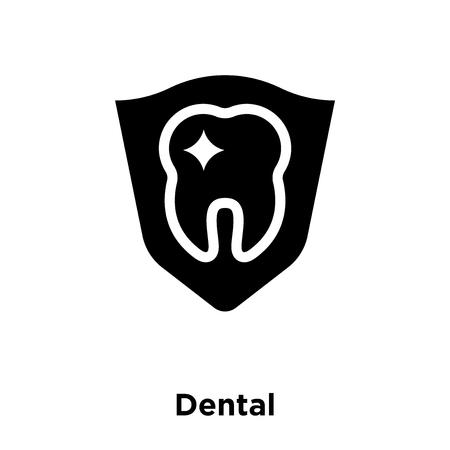 Zahnmedizinischer Symbolvektor lokalisiert auf weißem Hintergrund, Logokonzept des zahnmedizinischen Zeichens auf transparentem Hintergrund, gefülltes schwarzes Symbol