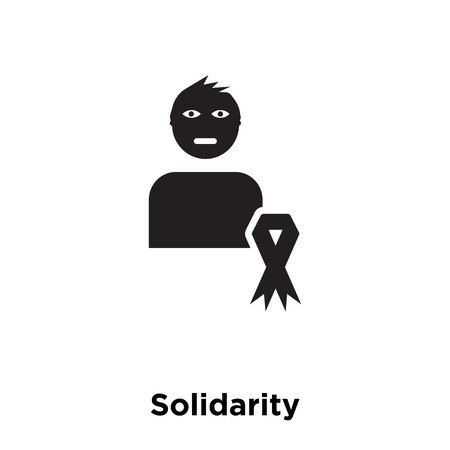 Solidarity icon vector isolated on white background, logo concept of Solidarity sign on transparent background, filled black symbol