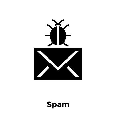 Spam icon vector isolated on white background, logo concept of Spam sign on transparent background, filled black symbol