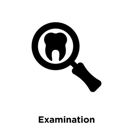 Examination icon vector isolated on white background, logo concept of Examination sign on transparent background, filled black symbol
