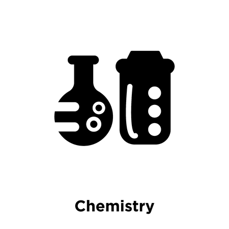 Chemistry icon vector isolated on white background, logo concept of Chemistry sign on transparent background, filled black symbol  イラスト・ベクター素材