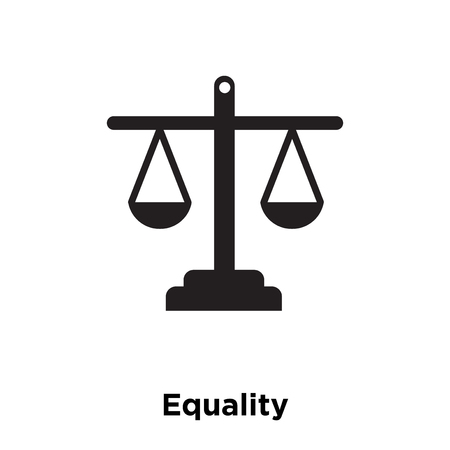 Equality icon vector isolated on white background, logo concept of Equality sign on transparent background, filled black symbol