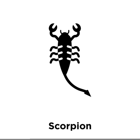 Scorpion icon vector isolated on white background, logo concept of Scorpion sign on transparent background, filled black symbol