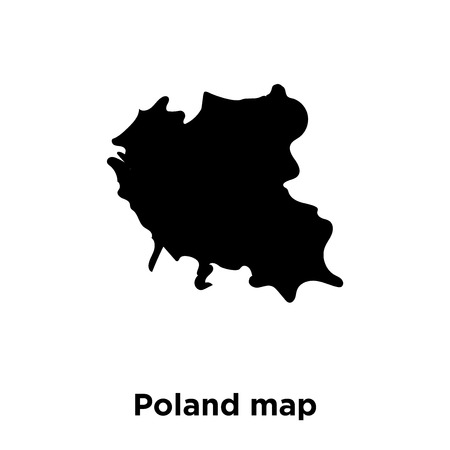 Poland map icon vector isolated on white background, logo concept of Poland map sign on transparent background, filled black symbol