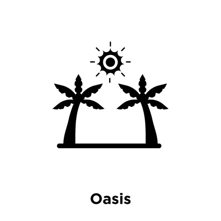 Oasis icon vector isolated on white background, logo concept of Oasis sign on transparent background, filled black symbol