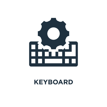 Keyboard icon. Black filled vector illustration. Keyboard symbol on white background. Can be used in web and mobile.