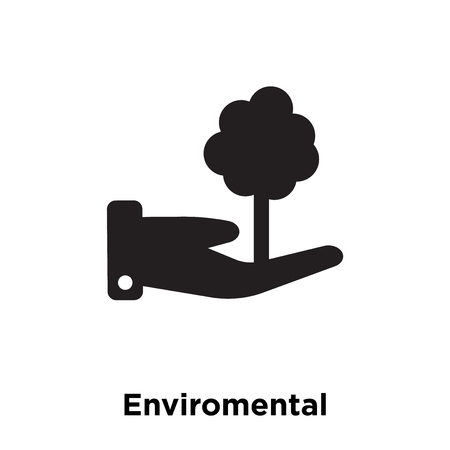 Enviromental Protection icon vector isolated on white background, logo concept of Enviromental Protection sign on transparent background, filled black symbol