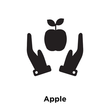 Apple icon vector isolated on white background, logo concept of Apple sign on transparent background, filled black symbol Banque d'images - 112442956