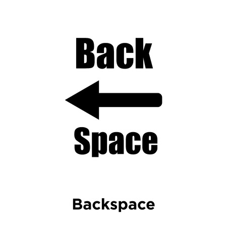 Backspace icon vector isolated on white background, logo concept of Backspace sign on transparent background, filled black symbol