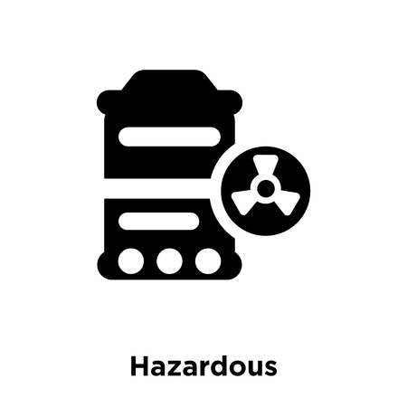 Hazardous icon vector isolated on white background, logo concept of Hazardous sign on transparent background, filled black symbol