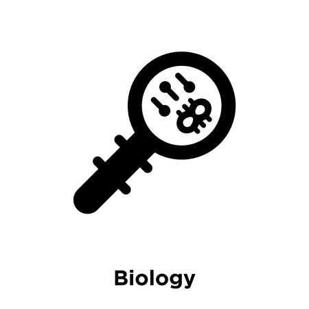 Biology icon vector isolated on white background, logo concept of Biology sign on transparent background, filled black symbol