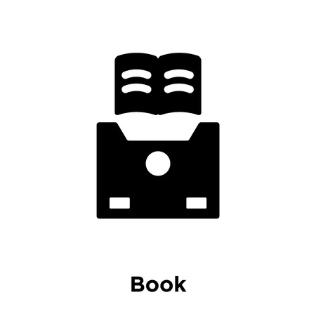 Book icon vector isolated on white background, logo concept of Book sign on transparent background, filled black symbol