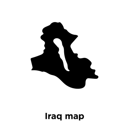 Iraq map icon vector isolated on white background, logo concept of Iraq map sign on transparent background, filled black symbol