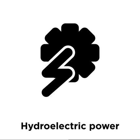 Hydroelectric power station icon vector isolated on white background, logo concept of Hydroelectric power station sign on transparent background, filled black symbol