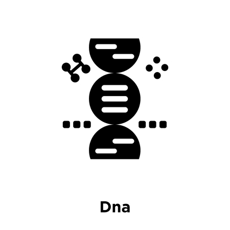 Dna icon vector isolated on white background, logo concept of Dna sign on transparent background, filled black symbol