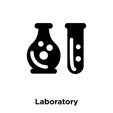 Laboratory icon vector isolated on white background, logo concept of Laboratory sign on transparent background, filled black symbol