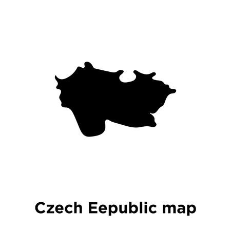 Czech Eepublic map icon vector isolated on white background, logo concept of Czech Eepublic map sign on transparent background, filled black symbol Illustration