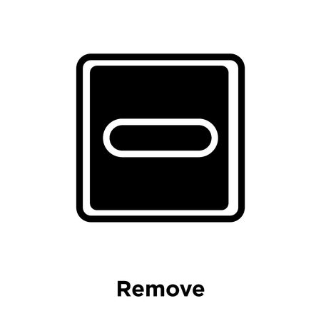 Remove icon vector isolated on white background, logo concept of Remove sign on transparent background, filled black symbol