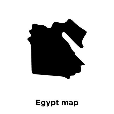 Egypt map icon vector isolated on white background, logo concept of Egypt map sign on transparent background, filled black symbol