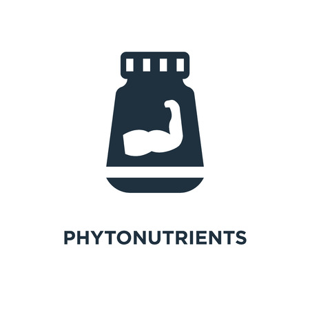 Phytonutrients icon. Black filled vector illustration. Phytonutrients symbol on white background. Can be used in web and mobile.