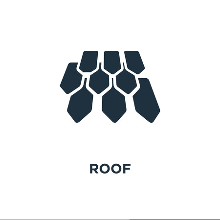 Roof icon. Black filled vector illustration. Roof symbol on white background. Can be used in web and mobile.