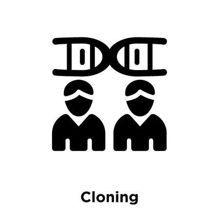 Cloning icon vector isolated on white background, logo concept of Cloning sign on transparent background, filled black symbol