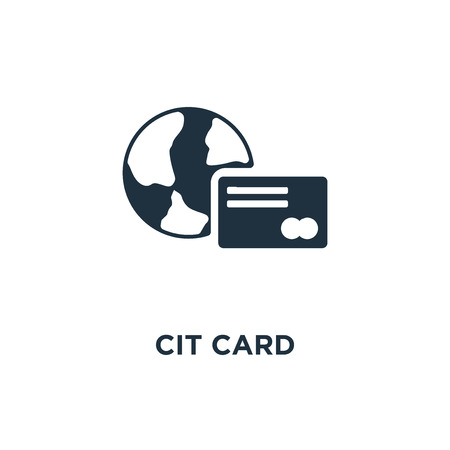 Credit card icon. Black filled vector illustration. Credit card symbol on white background. Can be used in web and mobile. Çizim