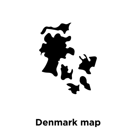 Denmark map icon vector isolated on white background, logo concept of Denmark map sign on transparent background, filled black symbol 向量圖像