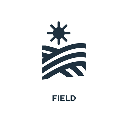 Field icon. Black filled vector illustration. Field symbol on white background. Can be used in web and mobile.