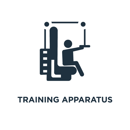 Training Apparatus icon. Black filled vector illustration. Training Apparatus symbol on white background. Can be used in web and mobile.