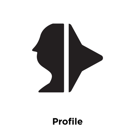 Profile icon vector isolated on white background, logo concept of Profile sign on transparent background, filled black symbol