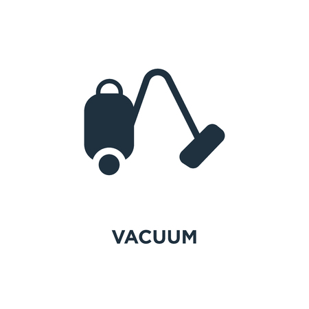 Vacuum icon. Black filled vector illustration. Vacuum symbol on white background. Can be used in web and mobile. Иллюстрация