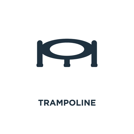 Trampoline icon. Black filled vector illustration. Trampoline symbol on white background. Can be used in web and mobile.