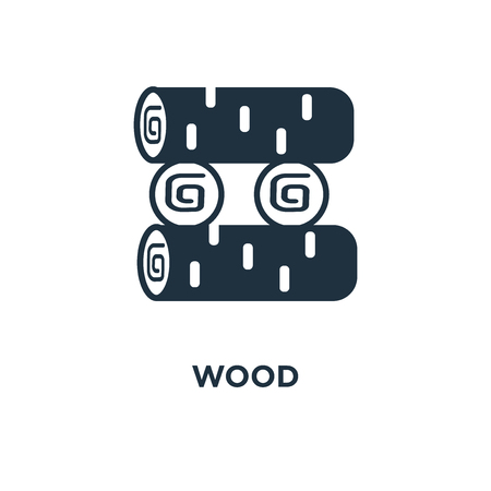 Wood icon. Black filled vector illustration. Wood symbol on white background. Can be used in web and mobile.