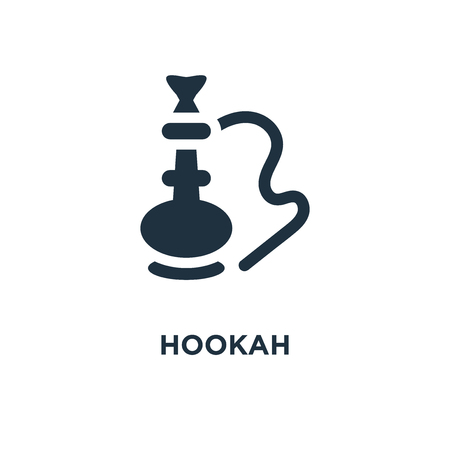 Hookah icon. Black filled vector illustration. Hookah symbol on white background. Can be used in web and mobile.