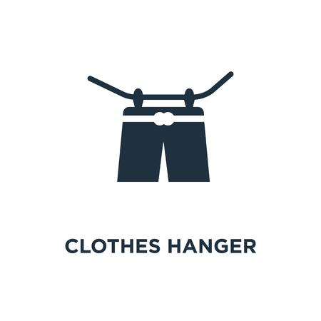 Icono de suspensión de ropa. Ilustración de vector relleno negro. Símbolo de suspensión de ropa sobre fondo blanco. Se puede utilizar en la web y en dispositivos móviles.